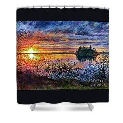 Baby Island Glory Shower Curtain