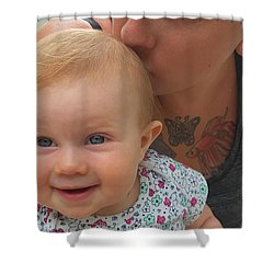 Baby Kisses Shower Curtain