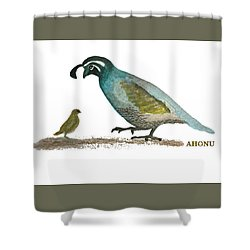 Baby Quail Learns The Rules Shower Curtain