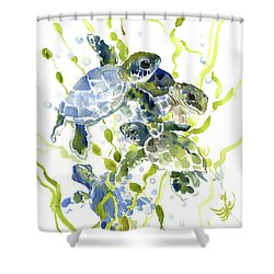 Baby Sea Turtles In The Sea Shower Curtain