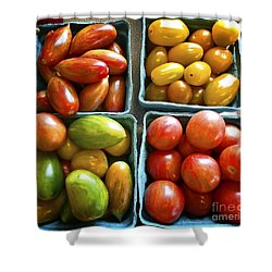 Baby Tomato Medley Shower Curtain by Dee Flouton