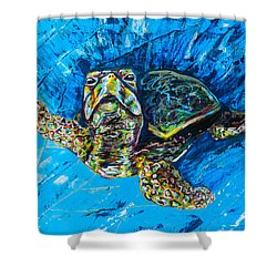 Baby Turtle Shower Curtain by Lovejoy Creations