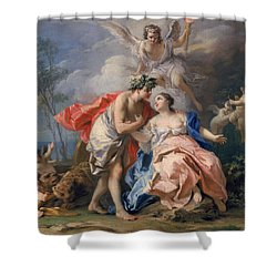 Bacchus And Ariadne Shower Curtain by Jacopo Amigoni