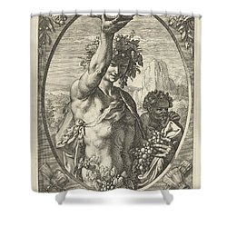 Bacchus God Of Ectasy Shower Curtain by R Muirhead Art