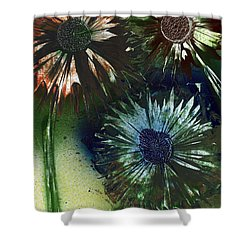 Bachelor Button Trio Shower Curtain