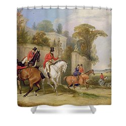 Bachelor's Hall - The Meet Shower Curtain by Francis Calcraft Turner