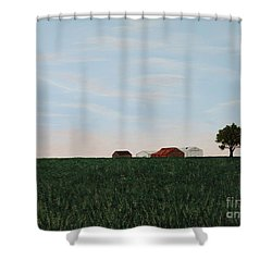 Back 40 Shower Curtain by Billinda Brandli DeVillez