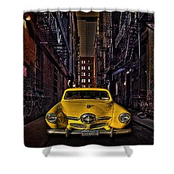 Back Alley Taxi Cab Shower Curtain