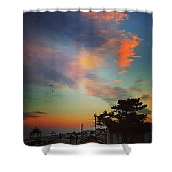 Jersey Shore Colors Shower Curtain by Lauren Fitzpatrick