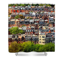 Back Bay Shower Curtain by Rick Berk