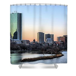 Back Bay Sunrise Shower Curtain