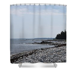 Back Beach Shower Curtain