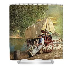 Back Country Camp Out Shower Curtain