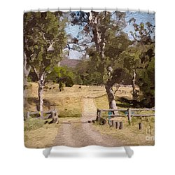 Back Country Farm Track Shower Curtain