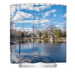 Shower Curtain featuring the photograph Back Creek by Charles Kraus