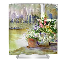 Back Deck Shower Curtain