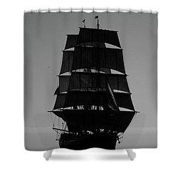 Back Lit Tall Ship Shower Curtain