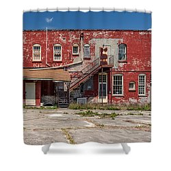 Shower Curtain featuring the photograph Back Lot by Christopher Holmes
