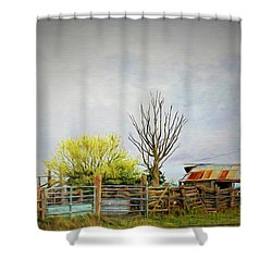 Shower Curtain featuring the photograph Back Of Beyond by Wallaroo Images