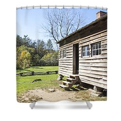 Back Porch Shower Curtain by Ricky Dean