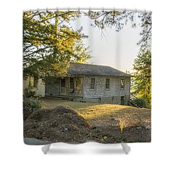 Back Porch Sunset Shower Curtain