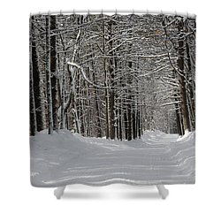 Back Rd Nh Shower Curtain