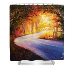 Back Road To Paradise Shower Curtain