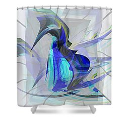 Back To Life 3 Shower Curtain by Thibault Toussaint