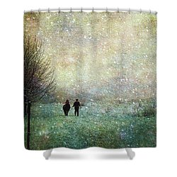 Shower Curtain featuring the photograph Back To The Barn by Kathy Bassett