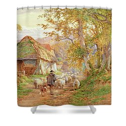 Back To The Fold Shower Curtain by Charles James Adams