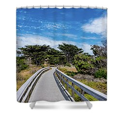 Back To The Grounds Shower Curtain