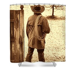 Back To Work Shower Curtain by American West Legend By Olivier Le Queinec