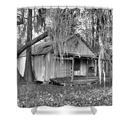 Backdoor Fishing Shower Curtain by Jan Amiss Photography