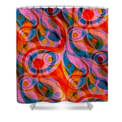 Background Choice Coffee Time Abstract Shower Curtain