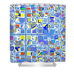 Background Choice Squares Shower Curtain