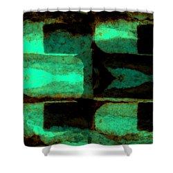 Colour Choice Stone Abstract Shower Curtain