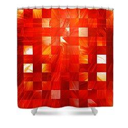 Background Heat Shower Curtain