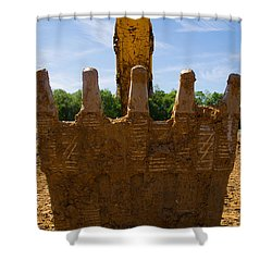 Backhoe Bucket Shower Curtain