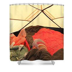 Backpacking Moments Shower Curtain