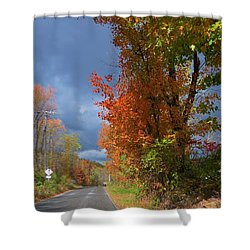 Backroad Country In Pennsylvania Shower Curtain by Jeanette Oberholtzer