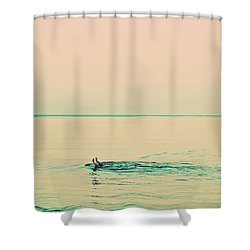 Backstroke Shower Curtain