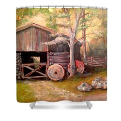 Backwoods Barn Shower Curtain
