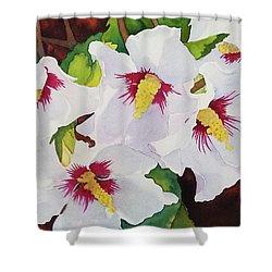 Backyard Blooms Shower Curtain