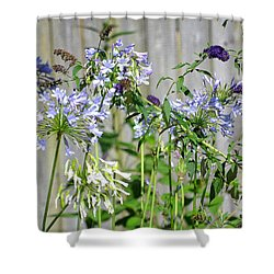 Backyard Flowers Shower Curtain