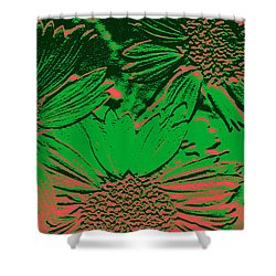 Abstract Flowers 1 Shower Curtain