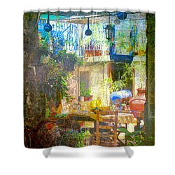 Backyard Idyll Shower Curtain by Andreas Thust