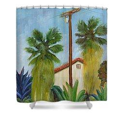 Backyard Shower Curtain