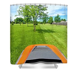 Shower Curtain featuring the photograph Backyard Mowing by Ricky L Jones