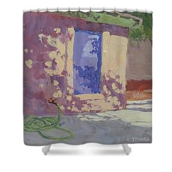 Backyard Shadows Shower Curtain