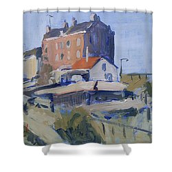 Backyard Spaarndammerdijk Shower Curtain